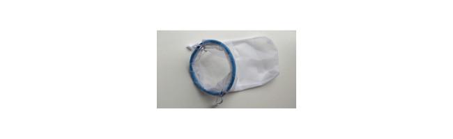 Aquaholland Gafzak Nylon 10 cm 400 micron Blauwe Ring