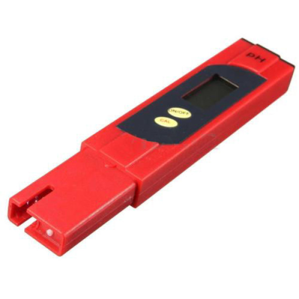 Digitale pH Meter PH 1-14 Rood