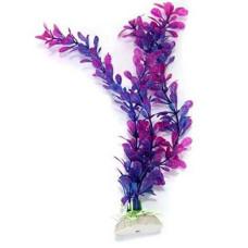 Kunststof aquariumplant blauw-paars