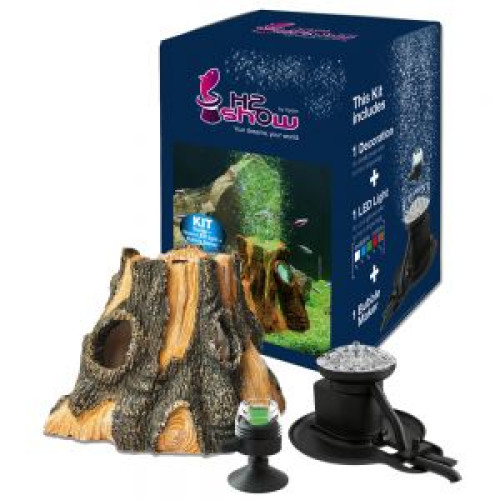Hydor H2Show Earth Wonders Wood Kit Groen LED